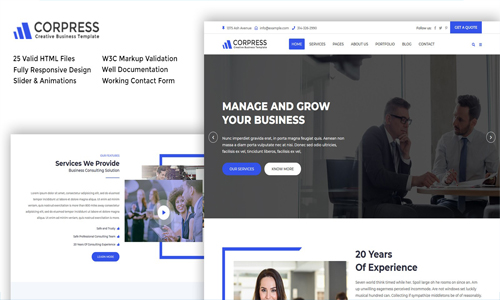 Corpress – Business and Corporate HTML5 Template
