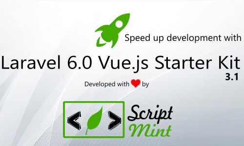 Codecaynon Laravel 6.0 Vue.js SPA Bootstrap Admin Starter Kit