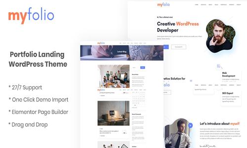 MyFolio - Portfolio Landing WordPress Theme