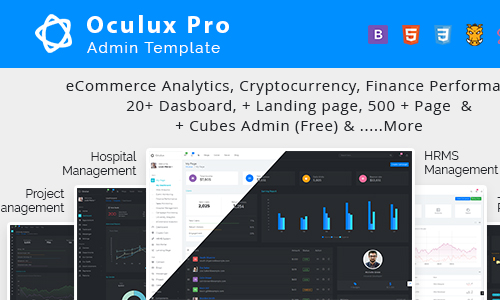 Codecaynon Oculux Pro – Multi Concept Admin Dashboard Template and UI KIT