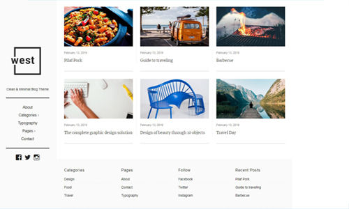 one west blog template