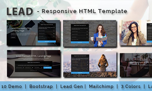 [Themeforest] LEAD – Multipurpose Responsive HTML Landing Page – Freebies Download